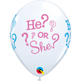 "11"" He? or She? 06 unid Bolsas de 6 unid (36 unid)"