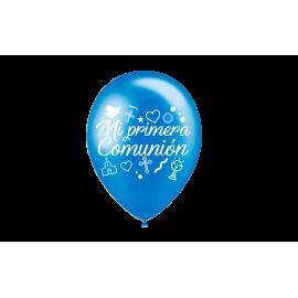 """11"""" Mi Primera Comunión Azul Prl (50 uni)"""