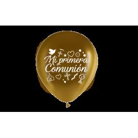 """11"""" Mi Primera Comunión M.D Oro (50 unid)"""