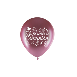 "11"" Mi Primera Comunión M.D Rosa Oro (50 unid)"