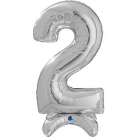 """25"""" Numero 2 Plata (Sólo Aire) 63.5 Cm"""