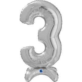 """25"""" Numero 3 Plata (Sólo Aire) 63.5 Cm"""