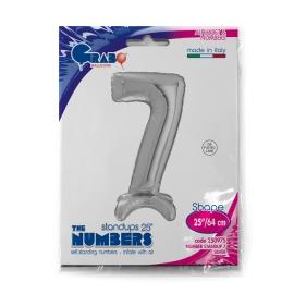 """25"""" Numero 7 Plata (Sólo Aire) 63.5 Cm"""