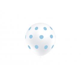 """11"""" Lunares Azul (50 unid) Globo Trasnparente"""