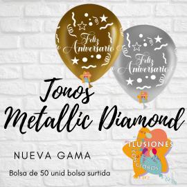 """11"""" Feliz Aniversario (50 unid) MD"""