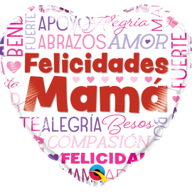 "18"" Felicidades Mamá (01ct) Minimo 3 unid"