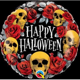 "18"" Halloween Golden Skulls (01ct) Minimo 3 unid"
