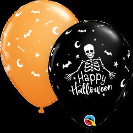 """11"""" Happy Halloween Skeleton (25ct)"""