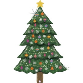 "5"" GLitter Christmas Tree (01ct)"