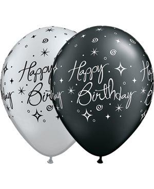 Birthday Elegant - Pearl Onyx Black & Silver